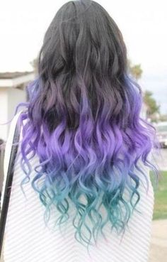 Colored Hair Ends, Dyed Ends Of Hair, Short Dyed Hair, Dyed Hair Ombre, Dyed Hair Blue, Blond Ombre, Dip Dye Hair, Dip Dyed Hair Brown, Cute Hair Colors