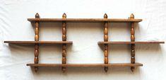 Vintage Wood Wall Knick Knack Display Curio Shelf 3 Tier 4 Spindle #Unbranded #MidCenturyModern Vintage Wood, Vintage Items, Wall Shelves, Shelf, Knick Knack, Midcentury Modern, Wood Wall, Display, Store