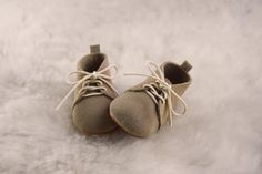 Sand Baby Lace Up Boots Handmade Leather Baby by CriaBabyShoes