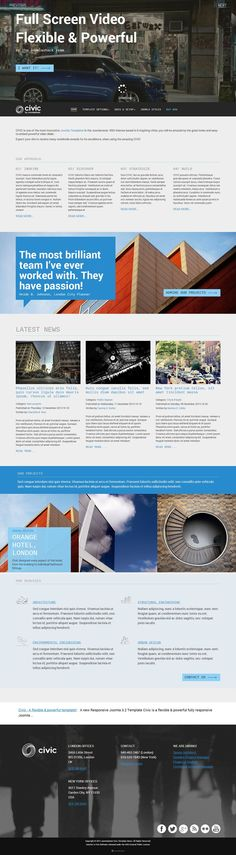 Civic - Responsive #Joomla Corporate Template with Full Screen Video