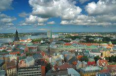 Houses in Riga, Latvia
