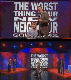 The worst thing your new neighbour could say | Frankie Boyle and Russell Howard | Mock the Week