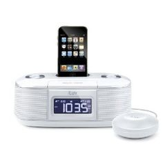 Alarm clock option #2: it will wake me up with my favorite song, charge my ipod, and have a shaky thing in my bed. Not sure how I feel about the shaky thing, but it's a neat idea