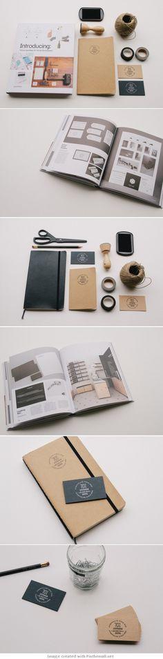 logo corporate branding visual graphic identity kraft paper design business card label black white print letterpress