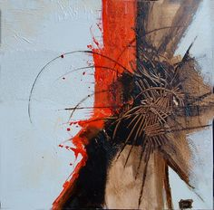 segni e forme catrame e olio su polifoam cm. 60 x 60 - Daniela Baldo