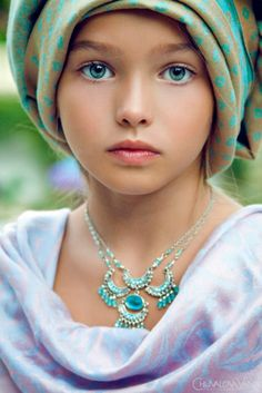 Girl with gorgeous blue eyes
