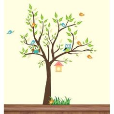 "Baby Nursery Wall Decals Childrens Themed 64"" X 48"" (Inches) Animals Trees Owls Forest Woodlands Wildlife Made of Seramark Material Repositional Removable Reusable. $74.95. Girl room decal"