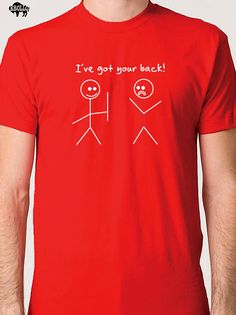 Best Friend Gift I've Got Your Back T-shirt  Men's T shirt Funny Tshirt Cool Shirt Boyfriend Gift Humor Tee