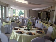 Yellow and Grey Wedding Reception  Roswell River Landing Eventsbynova.com