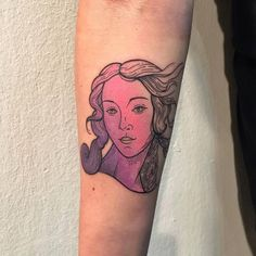 Botticelli's 'The Birth Of Venus' inspired tattoo on the right inner forearm. Tattoo Artist: Gennaro Varriale