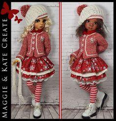 Winter Outfit for Kaye Wiggs 17  Mei Mei or 18  Layla MSD BJD by Maggie & Kate