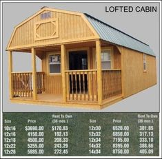 Derksen Portable Deluxe Lofted Barn Cabin My Favorite