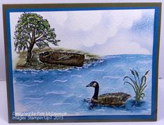 Moon Lake Watercolor by Patti McDermott - Cards and Paper Crafts at Splitcoaststampers