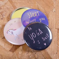 A collection of pocket mirrors for Niciola Rowlands - still one of our most popular and long standing products!