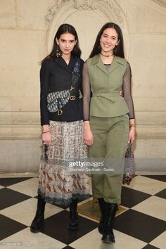 News Photo : Viola and Vera Arrivabene attend the Christian. Christian Dior, Peplum Dress, Women Wear, Celebs, Italy, News, Outfits, Fashion, Celebrities