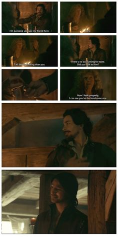 The Musketeers - 1x05 - The Homecoming <--- Aramis bribing little old ladies... :)