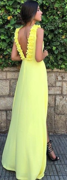 #summer #lovely #outfits | Yellow Gown