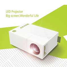 WEILIANTE Mini LED HD Projector Home Theatre Cinema Video Projector Connection with Iphone Android iPad Tablet for Home Outdoor Available via AVVGAUSBSDHDMI Input White *** You can get additional details at the image link.