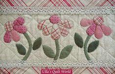 Ullas Quilt World: Quilt-Tasche - japanisches Patchwork , Mini Quilts, Small Quilts, Patchwork Quilting, Applique Quilts, Embroidery Applique, Patchwork Bags, Patchwork Ideas, Flower Applique, Quilt Boarders