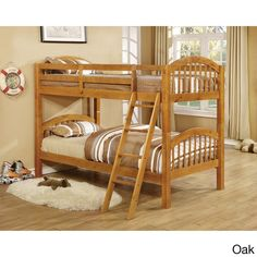 Twin Wood Bunk Bed 274