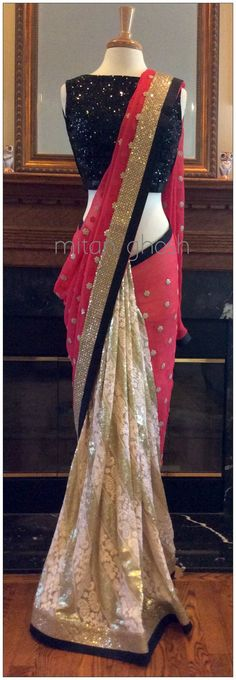 Fancyyy how to drape wear sari saree Patiala Salwar, Anarkali, Lehenga Choli, Bollywood Sarees Online, Bollywood Fashion, Indian Dresses, Indian Outfits, Collection Eid, Mode Shoes