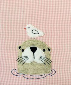 Stickmuster - Otter Ole Doodle Stickdatei - ein Designerstück von feinliebshop…
