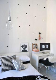 Polka dots on wall