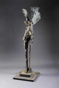 Winged Figure Ascending, 2010, Bronze, 108 x 35.5 x 41 in. Stephen De Staebler