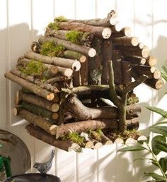 Vogelhaus - Diy İdeas for Home Diy Glasses, Bird House Kits, Gnome Garden, Fairy Houses, Bird Feeders, Building A House, Diy And Crafts, Projects To Try, Home And Garden