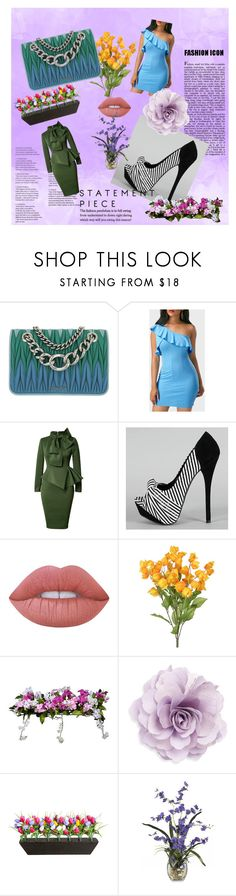 """""""Rosewe"""" by amela-367 ❤ liked on Polyvore featuring Miu Miu, Lime Crime, Improvements and Cara"""