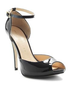 Need new black patent leather ankle strap pumps. These are peep-toe but they might do.
