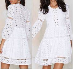 Patrón de vestido romántico con manga larga