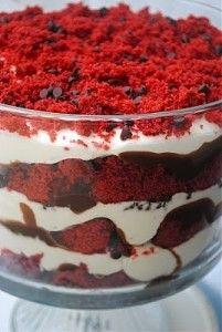 Red velvet trifle - oh Christmas!