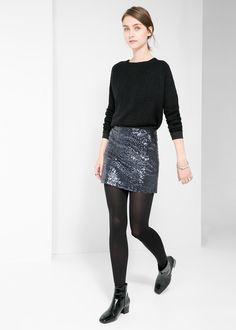 Sequin miniskirt