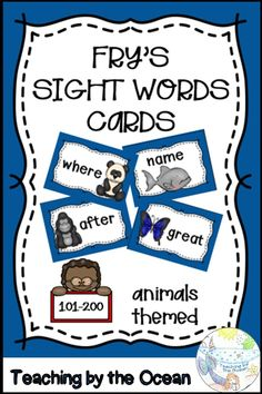 Fry Sight Words, Sight Words List, Word Wall Displays, Teacher Favorite Things, Help Teaching, Literacy Centers, Task Cards, Teacher Resources, Language Arts