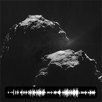 Como para celebrar el aterrizaje de mañana de Philae en la superficie del cometa 67P / Churyumov-Gerasimenko, la misión europea Rosetta ha detectado una misteriosa señal procedente de la masa de 2,5 millas de ancho de hielo y roca. http://news.discovery.com/space/comet-sings-mysterious-song-to-rosetta-141111.htm?utm_source=facebook.com&utm_medium=social&utm_campaign=DiscoveryChannel