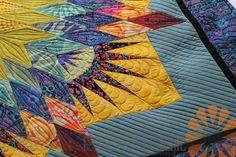 Piece N Quilt: Paper Pieced Star Quilt - Custom Machine Quilting by Natalia Bonner
