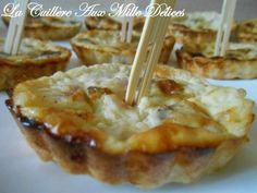 Mini quiches sans pâte jambon & champignon, Recette par Lacuillereauxmilledelices - Ptitchef