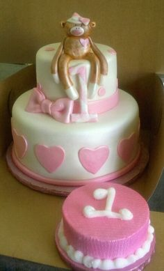 Aliyah needs this cake for her 1st birthday. it will match her sock monkey outfit ;)