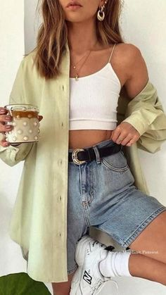 Cute Summer Outfits, Cute Casual Outfits, Stylish Outfits, Spring Outfits, Outfit Summer, Best Outfits, Europe Outfits Summer, Size 14 Outfits, Artsy Outfits