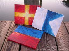Nautical Flags - eclectic - artwork - baltimore - Stony Creek Studio