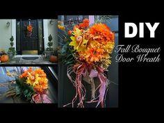DIY | Fall Bouquet Wreath - YouTube