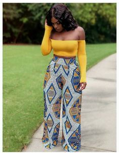 Your place to buy and sell all things handmade - African wide leg trouser African womens pant Ankara wide leg African Fashion Ankara, African Inspired Fashion, Latest African Fashion Dresses, African Print Fashion, African Wear, African Attire, African Women Fashion, Modern African Fashion, British Fashion