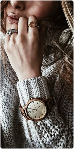 Getting cozy with @karinayvettestyle  | Find your JORD at woodwatches.com, shipping worldwide with free shipping in the U.S.!