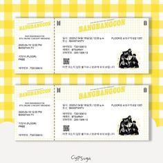 Bts Tickets, Concert Tickets, Bts Poster, Kpop Diy, Pop Stickers, Instagram Frame, Chalk Drawings, Bts Merch, Bts Concert