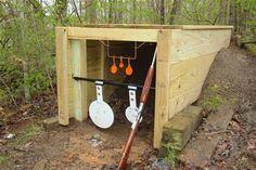 at home outdoor gun range Outdoor Shooting Range, Shooting Bench, Outdoor Range, Shooting Targets, Shooting Guns, Archery Targets, Outdoor Projects, Wood Projects, Range Targets