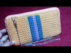 Crochet || crochet pouch || dompet hpo rajut - YouTube Crochet Pouch, Knit Crochet, Crochet Bags, Diy Purse, Crochet Handbags, Best Bags, Crochet Squares, Bag Accessories, Purses And Bags