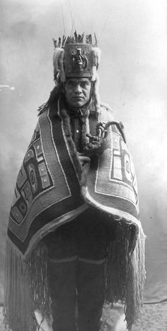 Tsimshian shaman, 1896. It's amazing to see this old picture.