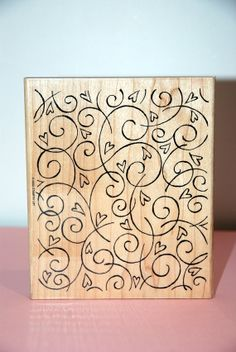 Stampin Up Soft Swirls Large wooden background by creativeseconds, $8.00