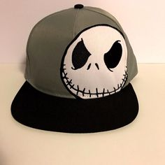 Nightmare Before Christmas Jack Skellington DISNEY Adjustable Snapback Cap  Hat 03d29218c3f8